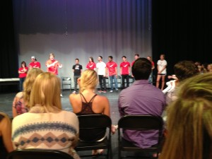 "05.17.13 - The Check! (Marvin Ridge HIgh School) improv troupe at their ""Momprov"" show at MRHS."