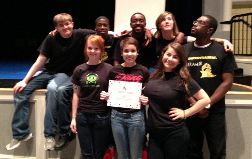 05.23.13 - The champions (Concord, NC High School) of the Cabarrus County Schools Improv Olympic 2013