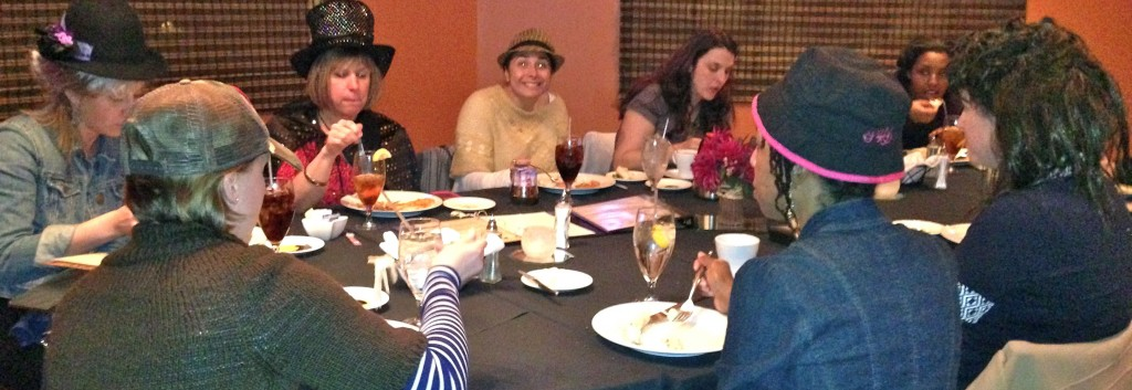 """02.18.13 - The talented ladies of Charlotte Speech and Hearing Center participate in the Murder Mystery Company's """"Of Sound Mind and Dead Body"""" @ the Cafe Sienna in the Holiday Inn Charlotte Center City."""