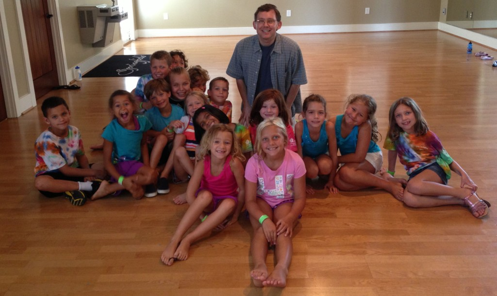 06.28.13 - Mr. P. (Scott Pacitti) and his improv summer campers at Orchard Park @ Springfield (Fort Mill, SC.)