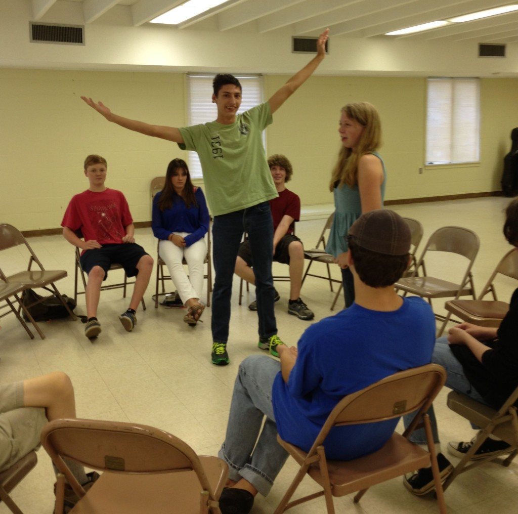 09-23-2103 - Scott Pacitti takes and plays improv with a homeschool group.