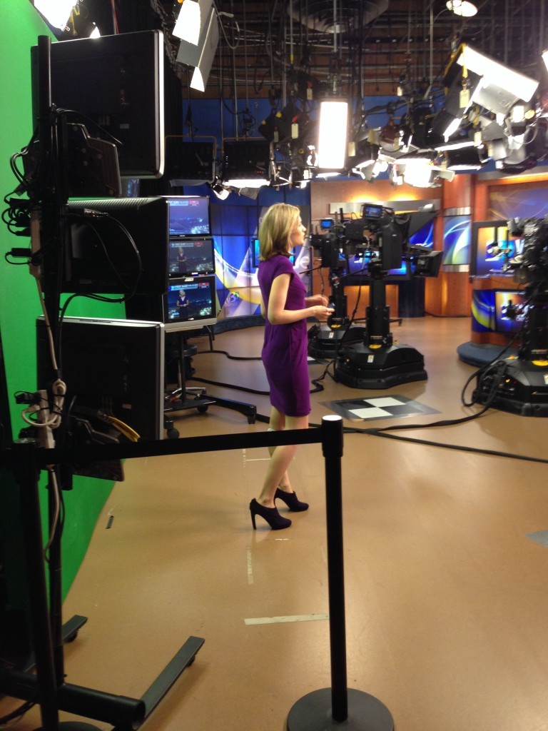 10-12-2013 - Backstage at the weatherdeck of the WBTV Saturday Morning News Show prior to the Chuckleheads' Scott Pacitti interview.
