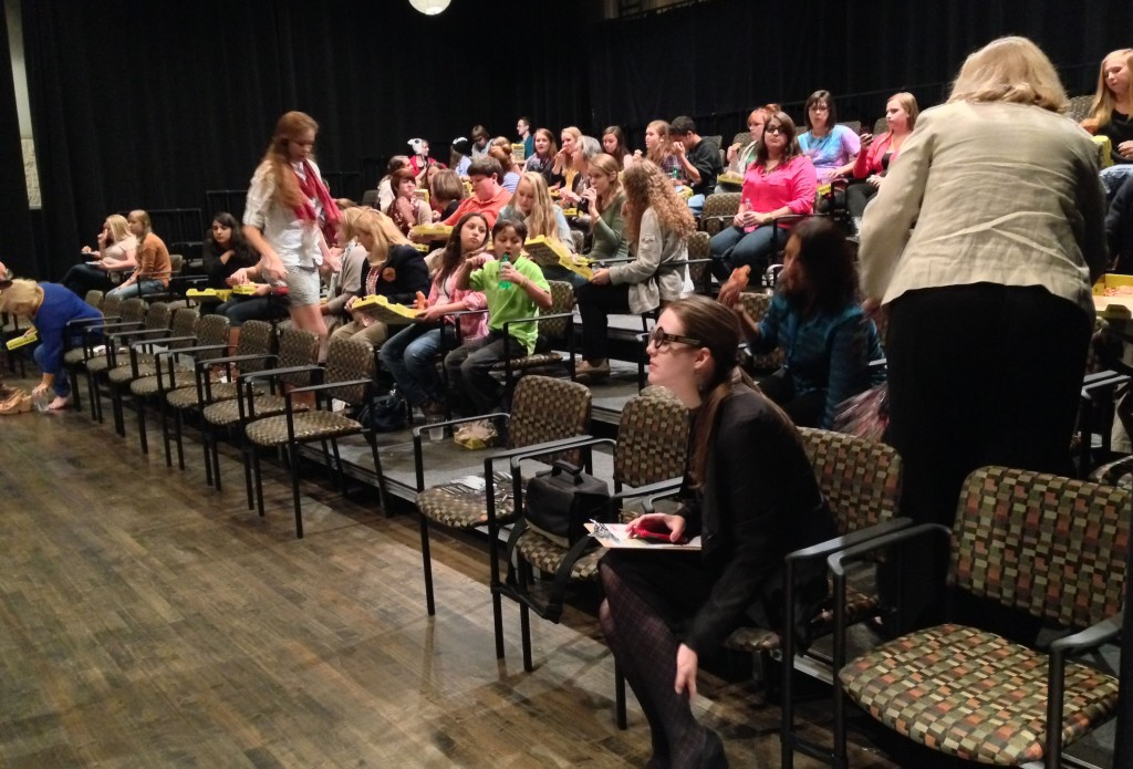 10.16.2013 - The wonderful pre-show Potted Potter show audience of the Blumenthal activity hosted by Scott Pacitti.