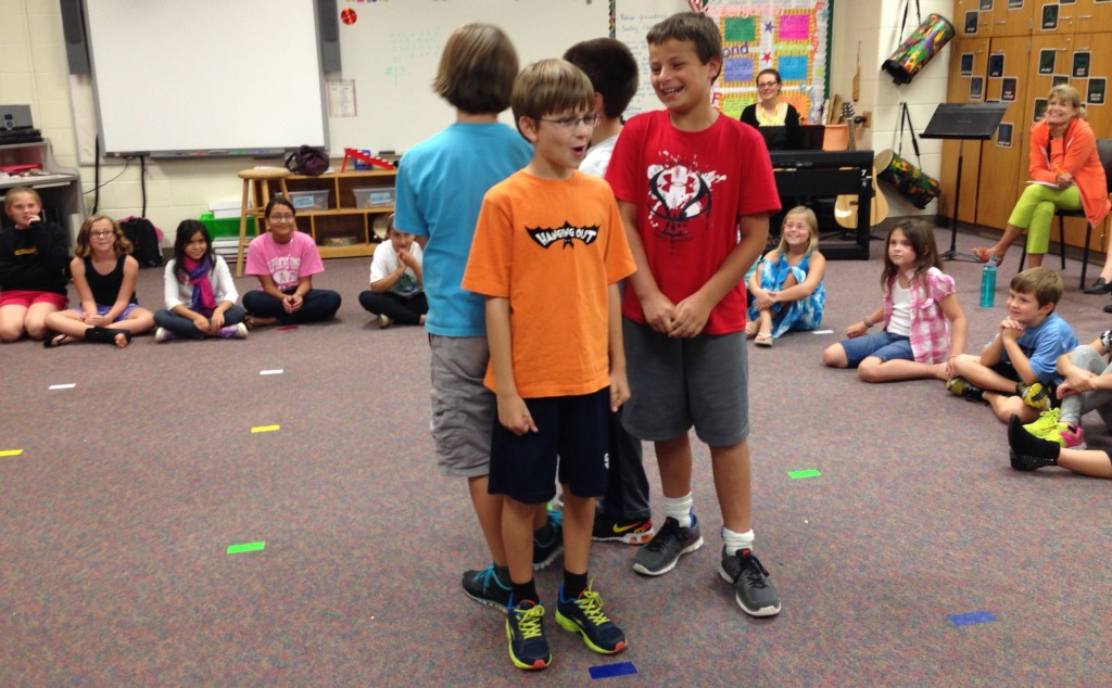 10-17-2013 - Some two-headed singers (or is that four-headed singers ?) from Hawk Ridge Elementary.
