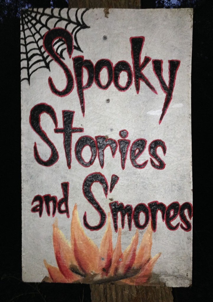 10-18-2013 - Scott Pacitti tells spooky stories and serves smores at the Aw Shucks Farm in Monroe, NC